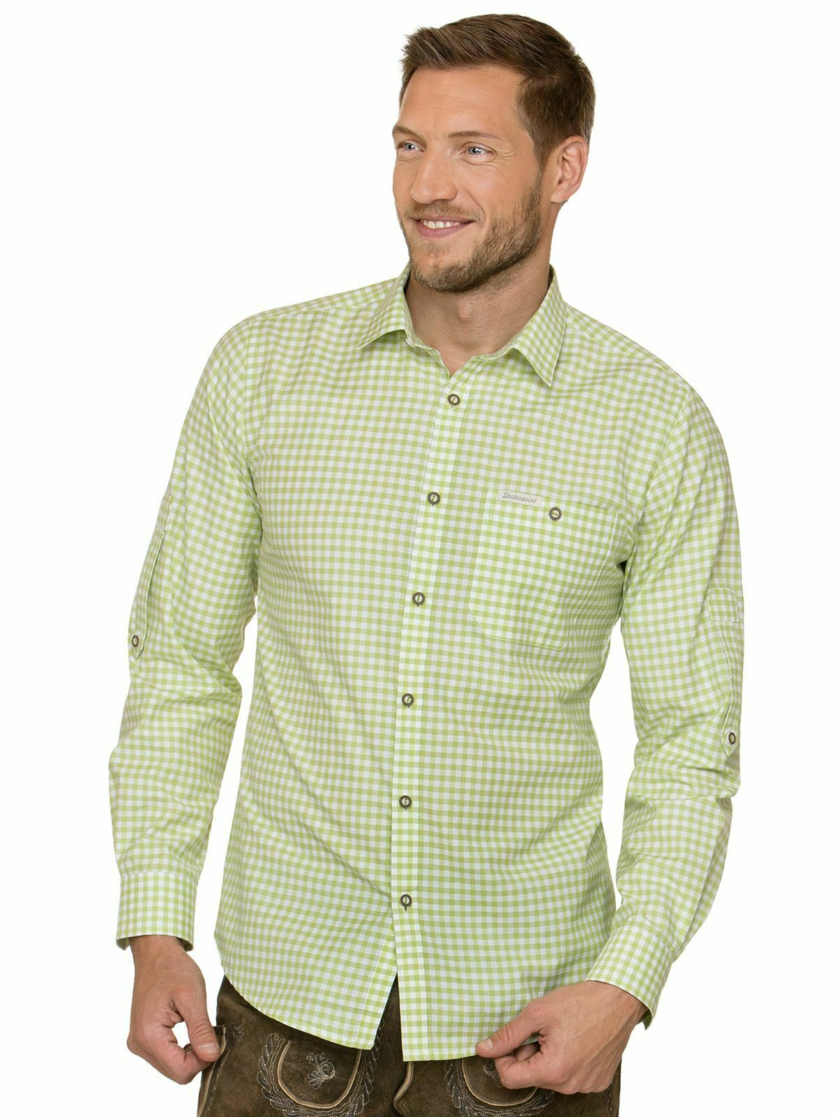 Stockerpoint Traditional Shirt Long Sleeve Comfort Fit Campos3 Apple