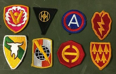 8 Us Army Military La Raccolta Assorted Mixed Uniform Patch Ricamate Patch Color-