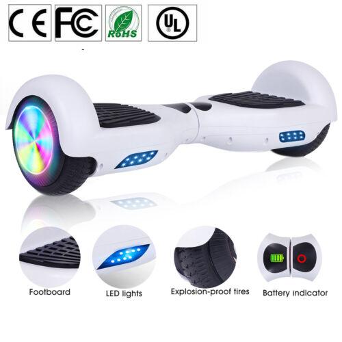 Elektro Scooter 6,5 Zoll Hoverboard Elektroroller Selbst Balancing Board Weiß