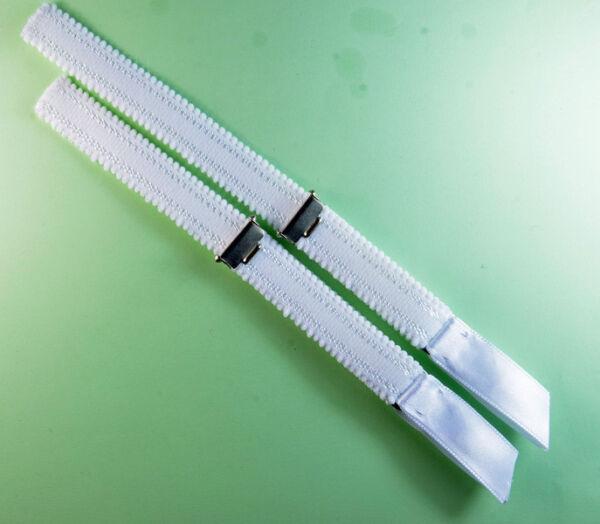 Straps, Strapsbänder 1,5cm breit mit Strumpfhalterclip zum Annähen.