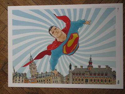 Other Original Comic Art Original Comic Art Quietly Frank All Star Superman Ultra Rare European Print Exclusive /100