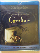 Coraline (Blu-ray Disc, 2009, 2-Disc Set, Collector's Edition; Includes 3-D...