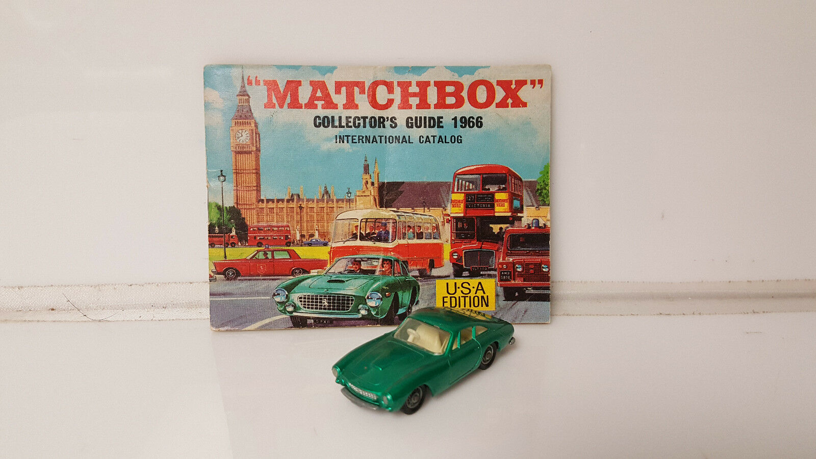 Vintage Matchscatola  Lesney  75 Ferrari Berlinetta & Collectors Guide 1966 Catalog  sconti e altro