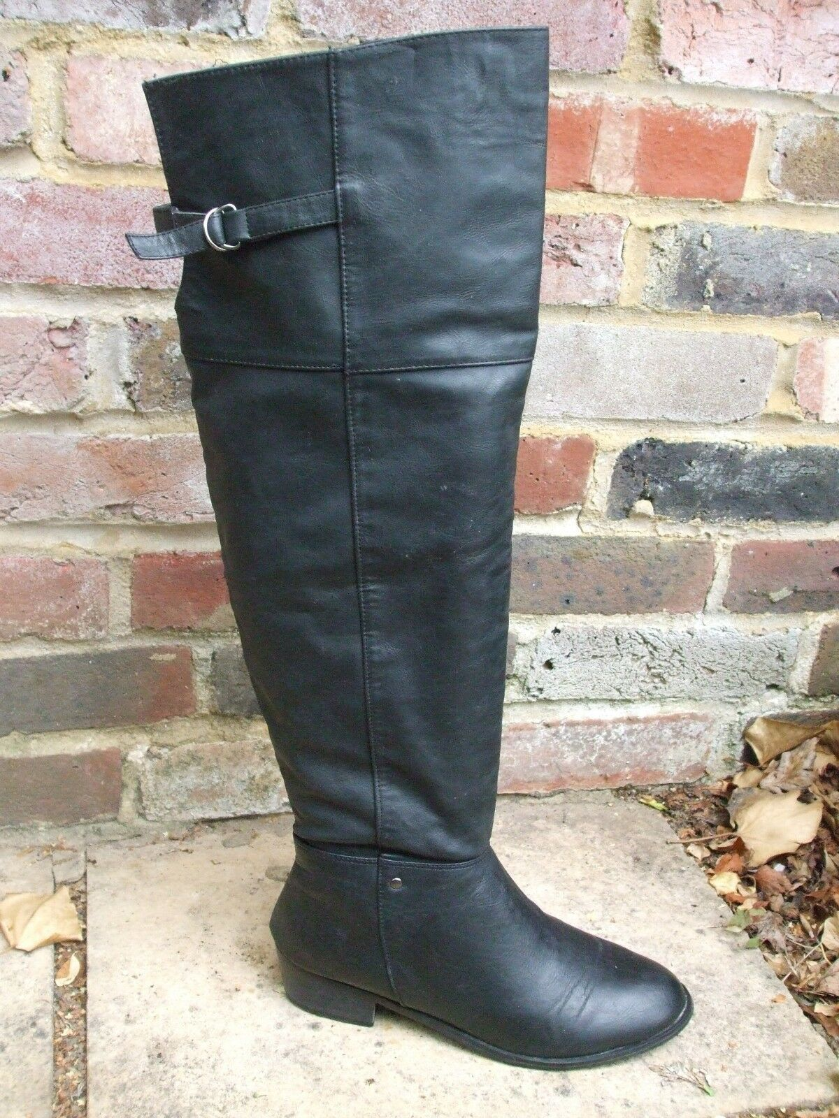 Gorgeous Black Over The Knee High Boots- Size 6