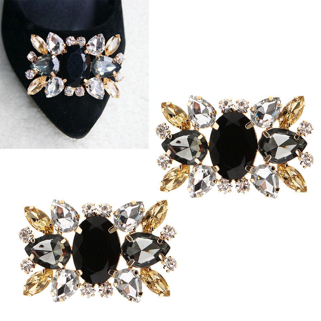 Rhinestone Crystal Shoe Clips Charms Bridal Wedding High-Heel Bridal Jewelry