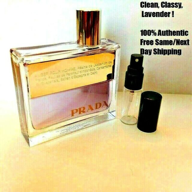Prada Amber Pour Homme - 5ml Decant- 5ml Glass Decant Atomizer- SAMPLE