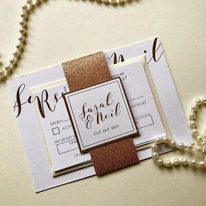 Rose-gold-wedding-invitations-glitter-band-invite-script-font-design