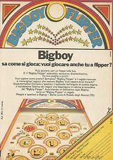 X7658 Bigboy Flipper - Pubblicità del 1977 - Advertising