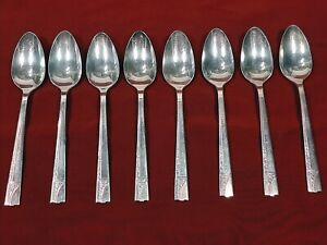 "Oneida Silverplate Affection Teaspoons 6"" Set Of 8"