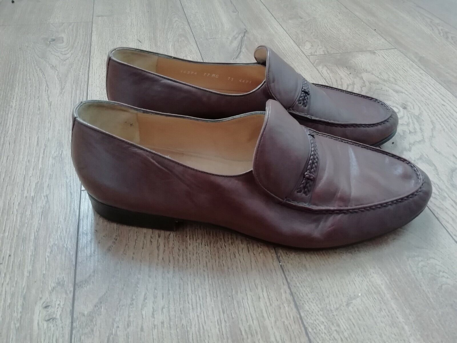 STEMAR SHOES 11 MADE IN ITALY FOR KURT GEIGER SOFT LEATHER LOAFERS