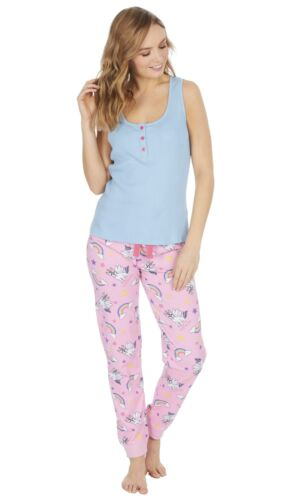 Damen /'Frenchicorn/' Französische Bulldogge X Einhorn Neuheit Pyjama Set ~ UK