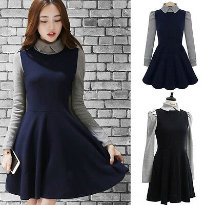 Women Sexy Knitted Long Sleeve Winter Casual Party Cocktail Clubwear Dress S-4XL