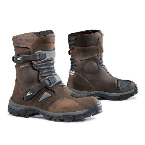 motorcycle bootsForma Adventure Low UNBOXED brown waterproof