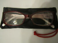 Reading Glasses By Iman +3.50 Red W/rhinestones Crystals Gems Jewels