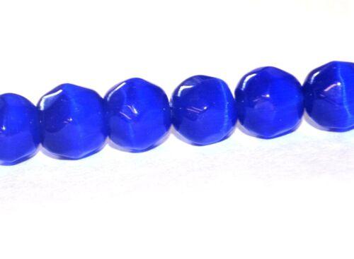 8 mm 250 Couleur Catseye Cats Eye Verre Bijoux Artisanat Perles Facettes Rond