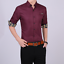 Business-Office-Work-Men-Casual-Stylish-Slim-Fit-Short-Sleeve-Shirt-Tops-Blouse thumbnail 7