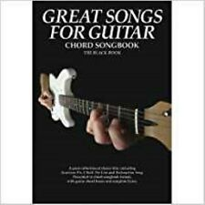 Great Songs For Guitar - Black Book. Sheet Music for Lyrics & Chords - New Book