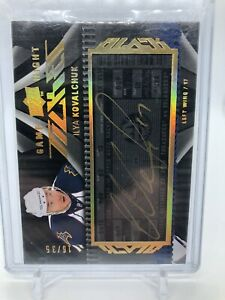 09/10 UD Black Game Night Ticket Auto Ilya Kovalchuk /35 Thrashers
