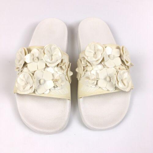 Tory Burch White Floral Blossom Slide Sandal Beach