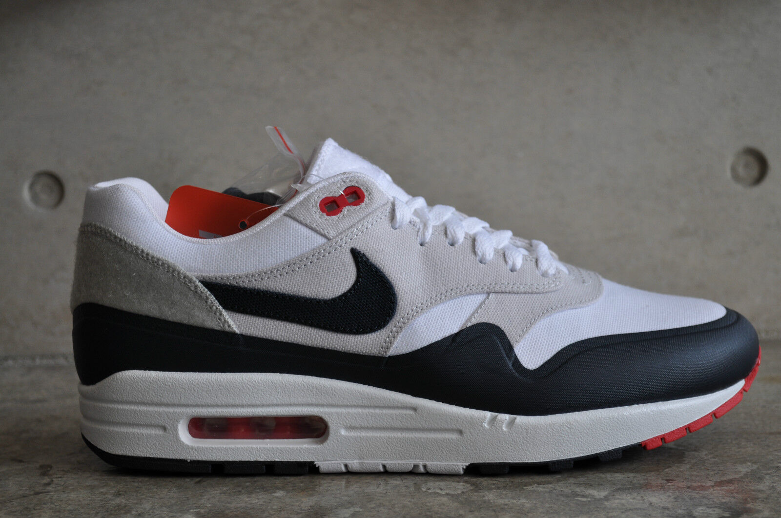 Nike Max 1 Navy Air Parigi OG Patch-Bianco Ossidiana-University Rosso