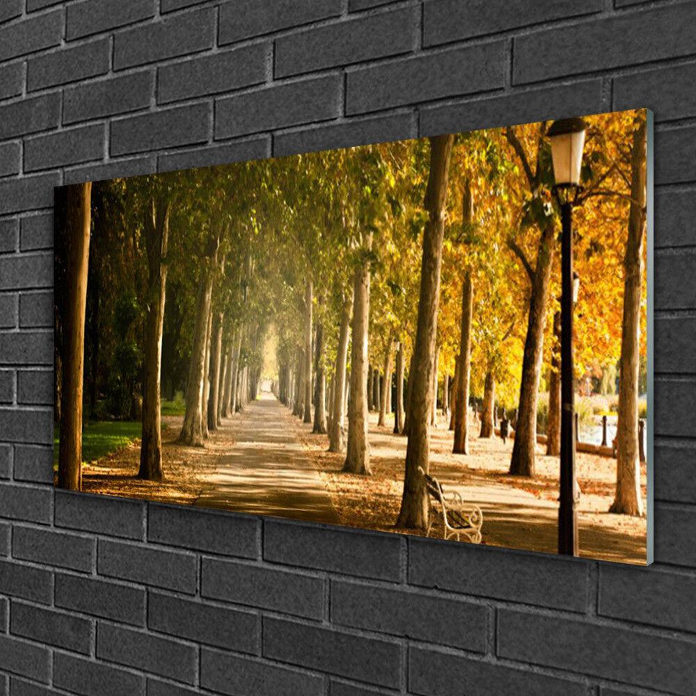 Tableau sur verre Image Impression 100x50 Paysage L'avenue Du Parc