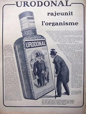 PublicitÉ De Presse 1919 Urodonal Rajeunit L'organisme A Base Quinate De DiÉthy Sufficient Supply Breweriana, Beer