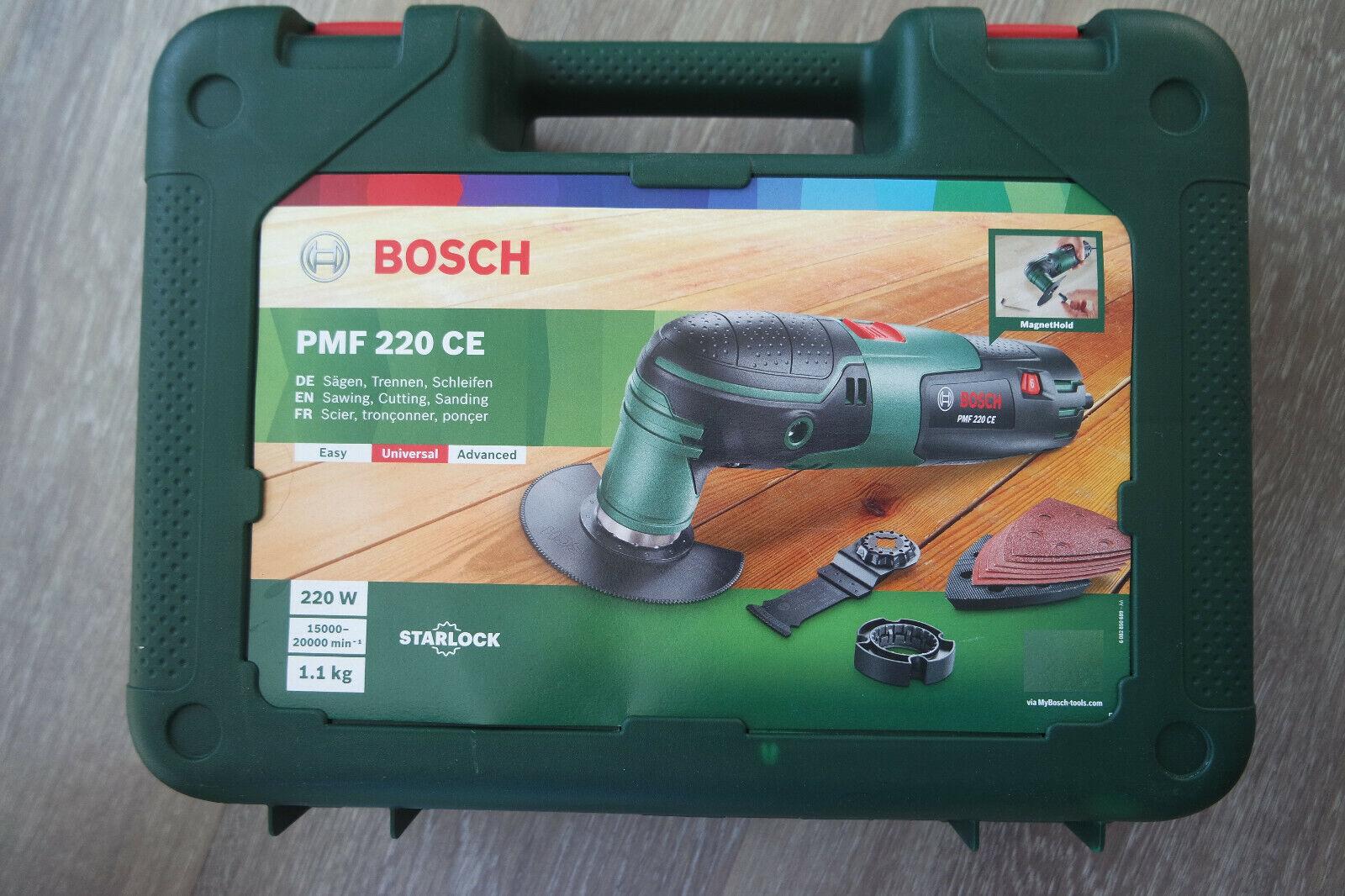 BOSCH PMF 220 CE Multifunktionswerkzeug Multitool Multimaster mit Zubehör