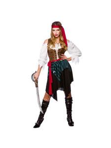 Donna Caraibi Costume pirata Lady da Donna Costume Vestito Tg 6-28