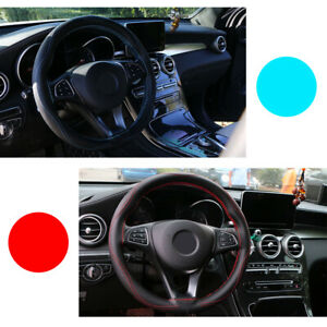 Universal-38cm-Car-Steering-Wheel-Cover-Leather-Protective-Protection-Needle-Top