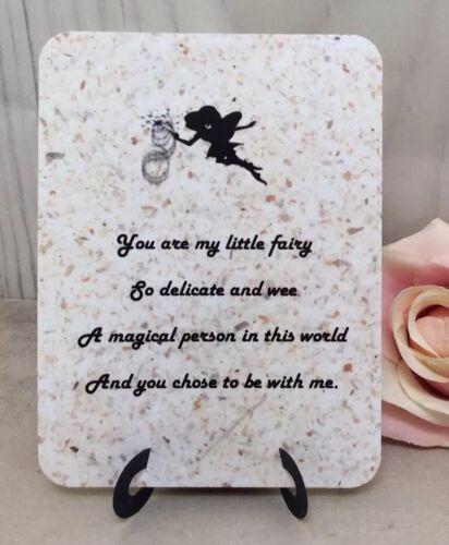 My Little Fairy Easel Card Gift Special Family Friend Lover Partner Boyfriend