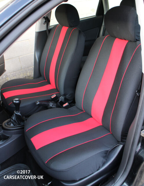 2 BLACK FRONT VEST CAR SEAT COVERS PROTECTORS FOR ALFA ROMEO MITO
