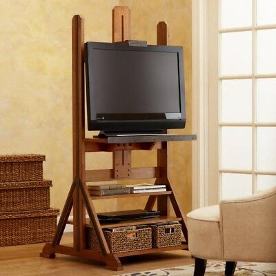 Vintage Style Wooden Tv Easel From World Market Brand New Embled