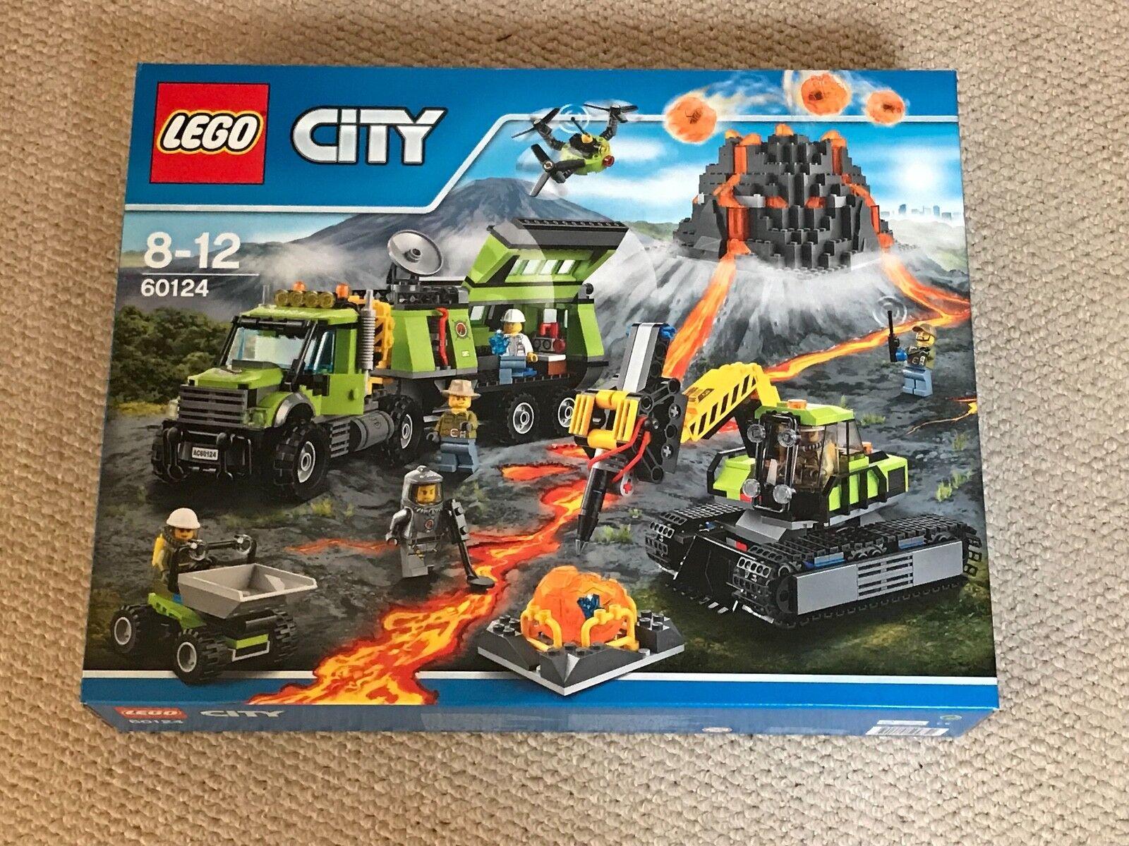 Rare-lego city 60124 volcan exploration  Base-nouveau & Sealed-Libre p&p  pas cher