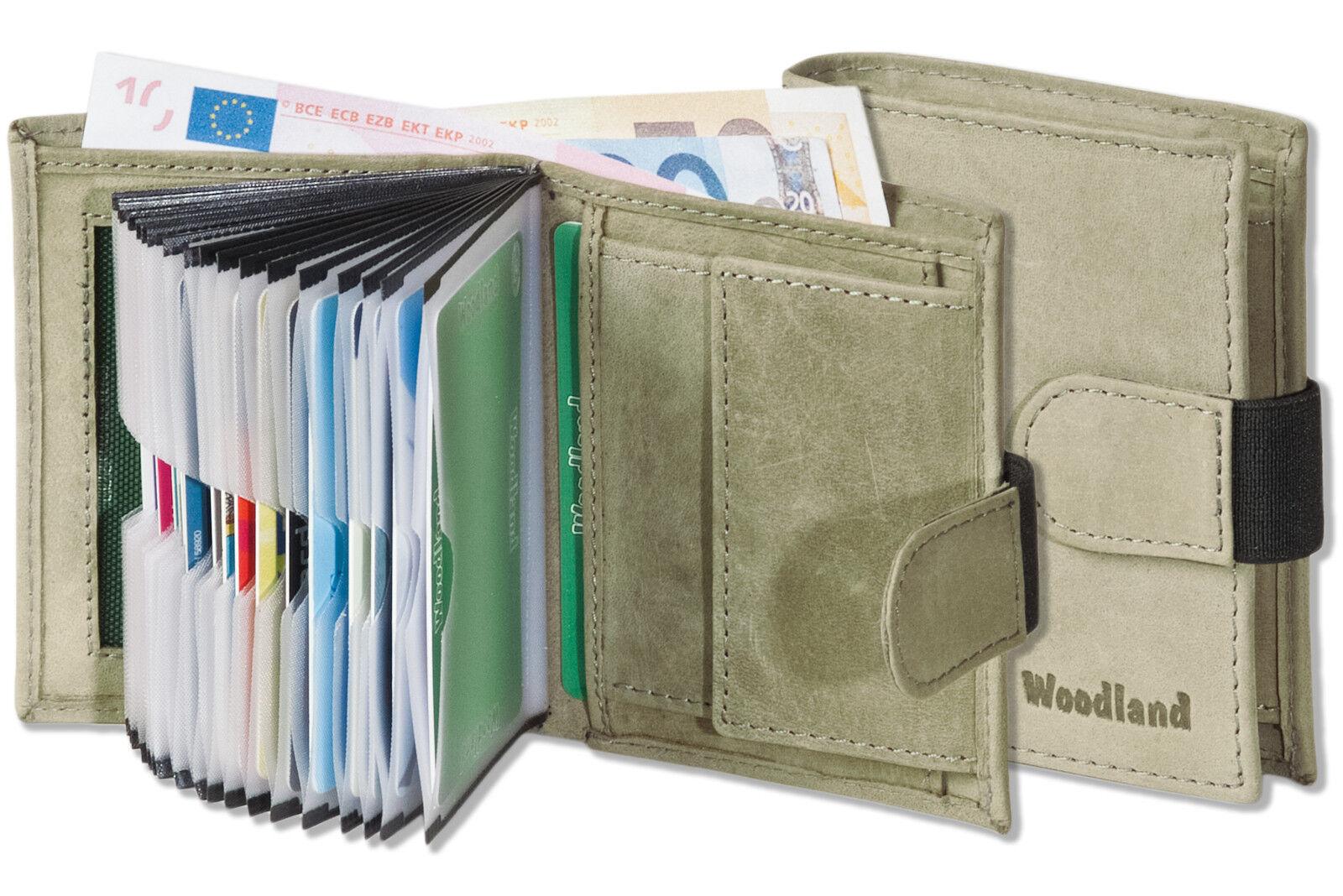 Woodland Leder Geldbörse Und Kreditkartenetui In Einem Aus Feinem Büffelleder