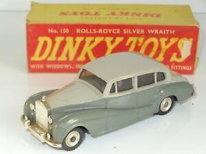 (l) Dinky Rolls Royce Silver Wraith - 150-afficher Le Titre D'origine CaractéRistiques Exceptionnelles