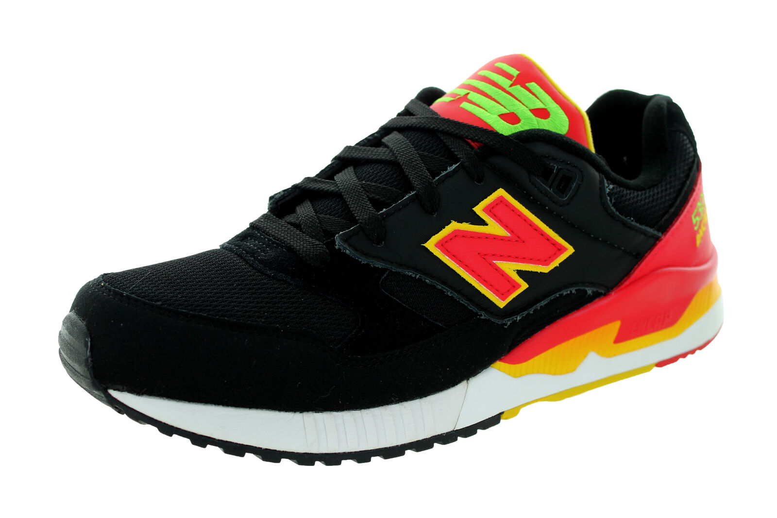 New Balance Men's 90S Running 530 Classics Black With Red & Yellow Running shoes
