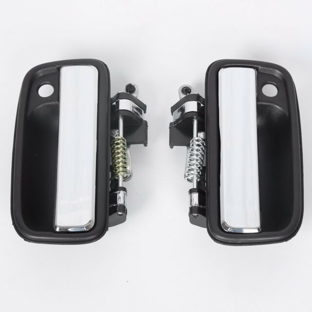 Set Chrome Outside Front Left Right Door Handle Exterior For 95 04