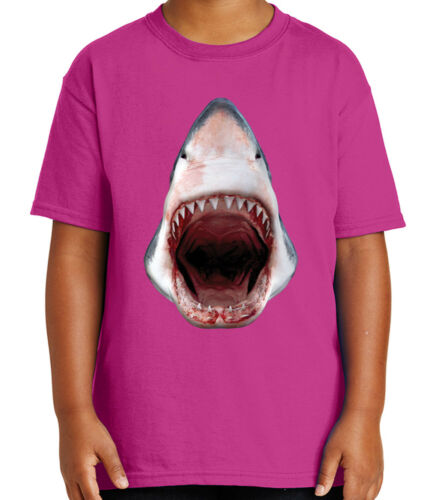 3D Shark Kid/'s T-shirt Great for Aqua Water Park Tour Tee for Youth 2056C
