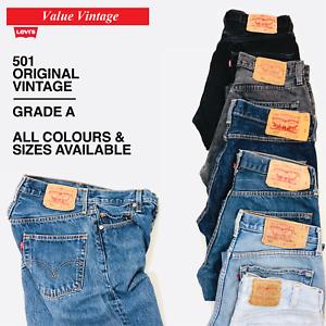 Vintage-Levis-Levi-501-para-hombre-Grade-a-jeans-W30-W32-W34-W36-W38-W40-Levi-039-s-denim