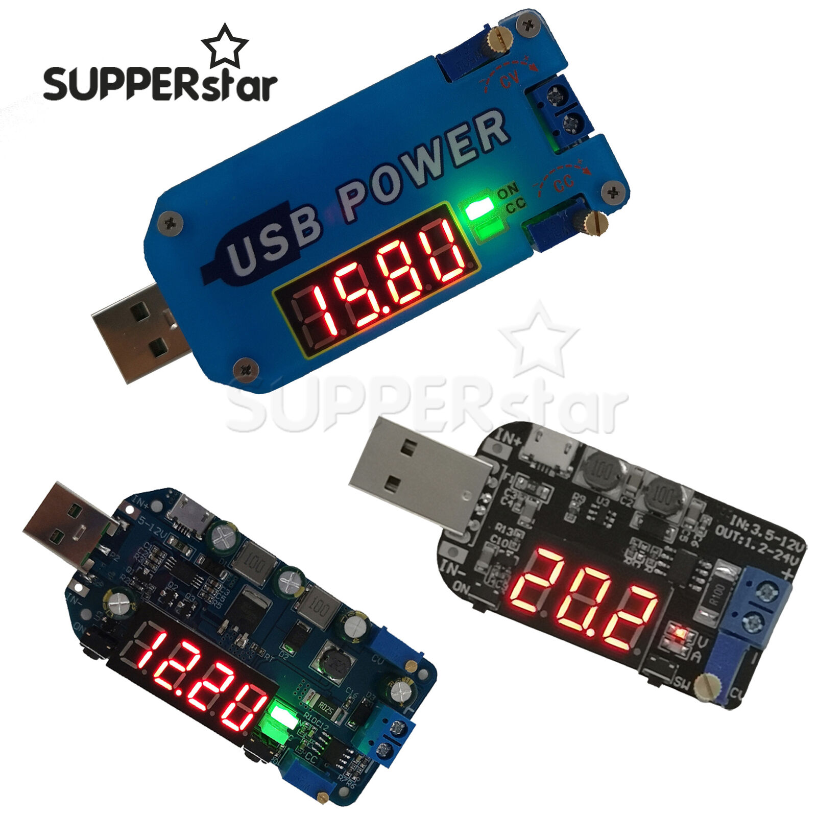 5V to 3.3V9V12V24V30V USB adjustable