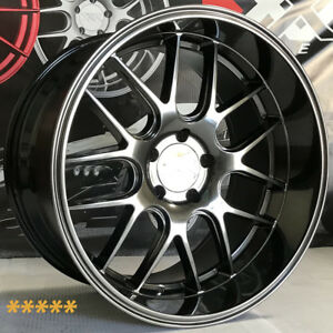 XXR-530D-Wheels-19-20-Hyper-Black-Rims-Staggered-5x114-3-Fit-Infiniti-G35-Coupe