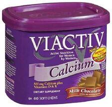 500mg Viactiv Calcium Soft Shews with Vitamins D and K 60 ct Milk Chocolate