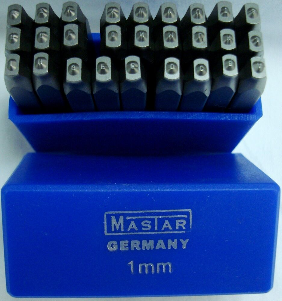 27 pcs New Professional tool 1 mm STAMPING LETTERS Die Set