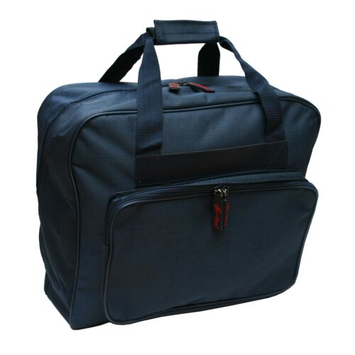 Navy Sewing Machine Carry Bag Padded Zip Up Front Storage Made