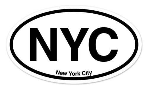 "NYC New York City Oval car window bumper sticker decal 5/"" x 3/"""