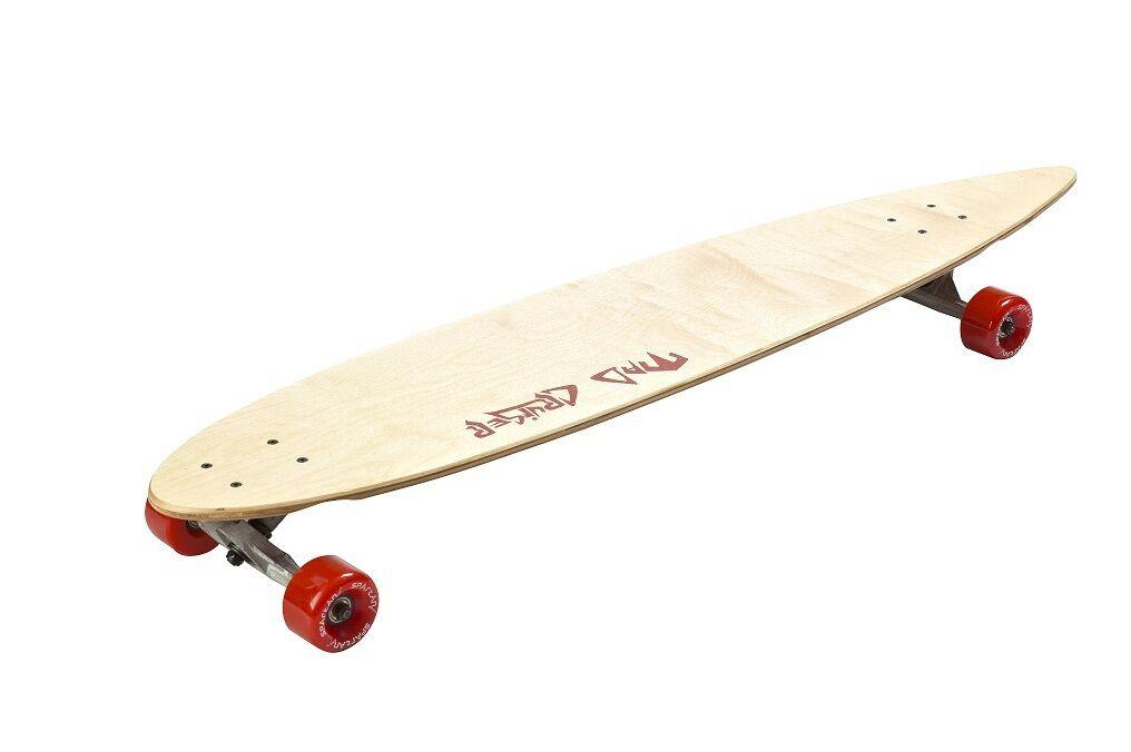 Skateboard, Kugellager Longboard 116cm lang, bis 100Kg. ABEC-5 Kugellager Skateboard, 69x55mm Rollen. 65776d