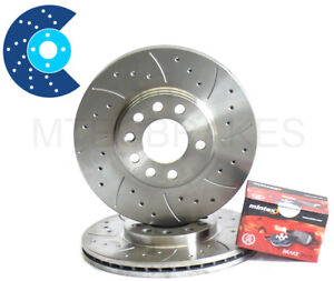 Volkswagen Lupo 1.6 Gti 00-05 Rear Brake Discs Drilled Grooved Gold Edition