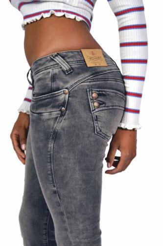 Herrlicher PIPER SLIM Jeans 5650 DB662 grau *Pearly* Knack-Po NEU Koll FS2020