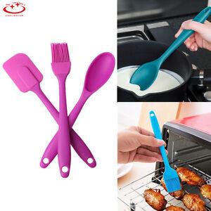 3pcs-Silicone-Spatula-Spoon-Brush-Set-Cooking-Utensil-Tool-Set-Cooking-Kit