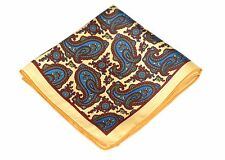 Kyoto Kimono Red Silk Lord R Colton Masterworks Pocket Square $75 New